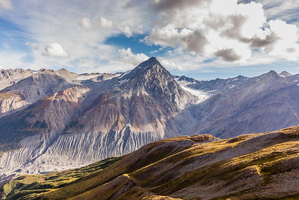 The landscape of the Tatshenshini-Alsek Provincial Park in British Columbia, Canada on September 4, 2016.