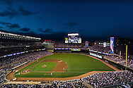 A general view of Target Field during a game between the Seattle Mariners and the Minnesota Twins on May 24, 2011 in Minneapolis, Minnesota.  The #3 in the infield is in tribute of Harmon Killebrew who passed away a few days before this game.
