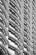 A Black and white image of the Walbrook Building with the distinct reinforced polymer shading.<br /> <br /> Architect: Fosters & Partners