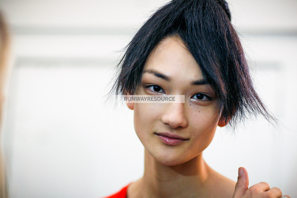 Ai Tominaga Backstage at Givenchy Couture Fall 2007