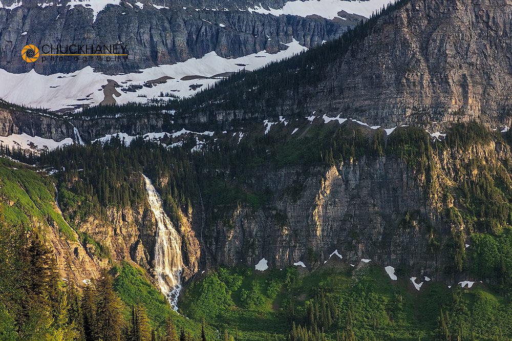 Bird Woman Falls in Glacier National Park, Montana, USA