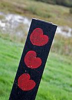 OUDEMIRDUM - 150 meter markering met de Friesche POMPEBLÊDEN. Golf Club Gaasterland. FOTO KOEN SUYK