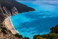 Beautiful location of Mytros beach in Kefalonia island