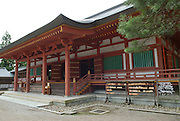 """The main hall at Motsuji temple in Hiraizumi, Japan, 27 August 2008. The temple was founded in 850.Hiraizumi in Northern Japan flourished as the seat of the Oshu Fujiwara clan for around 100 years from the end of the 12th century. The city was built to be an earthly recreation of the Buddhist """"Pure Land"""" or Nirvana."""
