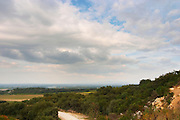 A view over the plain from the winery. Chateau Romanin, Saint Remy de Provence, Bouches du Rhone, Provence, France, Europe