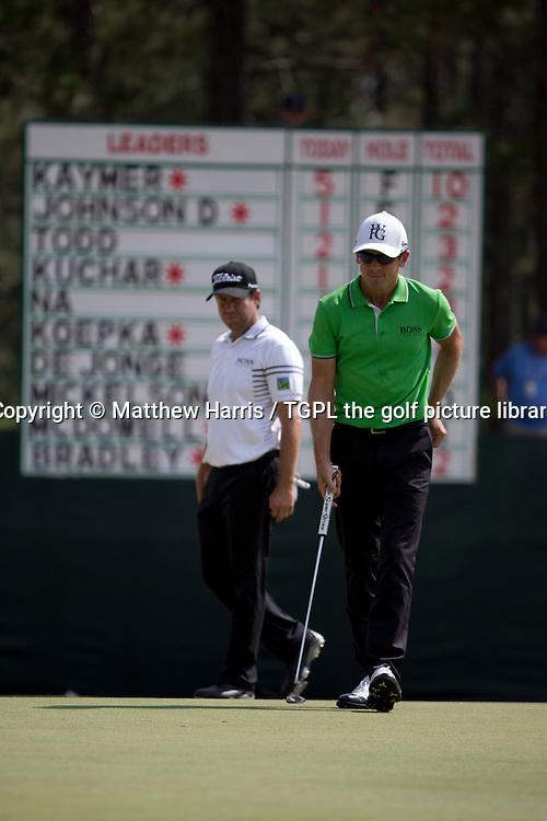 Erik COMPTON (USA) and Scott LANGLEY (USA) during second round US Open Championship 2014,Pinehurst No 2,Pinehurst,North Carolina,USA.