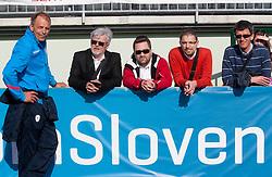 Bostjan Gasser, Branko Vekic, Marko Miklavic, Jernej Suhadolnik and  Joze Okorn during practice session of Slovenian National football team at training camp on May 28, 2013 in Sports park Kranj, Slovenia. (Photo By Vid Ponikvar / Sportida)