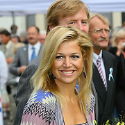 NLD/Wassenaar/20080531 - Prinses Maxima opent beeldententoonstelling ' Hoogspanning ' in park raadhuis 'De Paauw' Wassenaar,