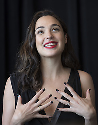 May 19, 2017 - Hollywood, California, U.S. - GAL GADOT promotes 'Wonder Woman.' Gal Gadot (born April 30, 1985) is an Israeli actress and model. As an actress, Gadot is known for her role as Gisele Yashar in The Fast and the Furious film series. In 2016, Gadot began playing the role of Wonder Woman in the DC Extended Universe, starting with Batman v Superman: Dawn of Justice and continuing as the lead in Wonder Woman (2017). She is a former Israel Defense Forces trainer and served in the Israeli army for two years. In past years, she has been ranked as one of the highest earning models in Israel and is the face of Bamboo perfume. (Credit Image: © Armando Gallo via ZUMA Studio)