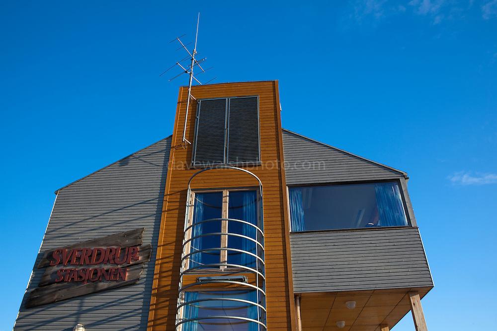 Norwegian Polar Institute Sverdrup Station at the international scientific research base of Ny Alesund, Svalbard.