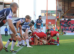 Bristol Rugby scrum half Craig Hampson - Photo mandatory by-line: Dougie Allward/JMP - Mobile: 07966 386802 - 18/01/2015 - SPORT - Rugby - Bristol - Ashton Gate - Bristol Rugby v Yorkshire Carnegie - Green King IPE Championship