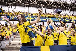 June 16, 2017 - Stockholm, Sweden - Den gula väggen Sverige - England, U21-EM (Credit Image: © Aftonbladet/IBL via ZUMA Wire)