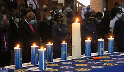 South Africa - Pretoria - 2 October 2020 - Members of the SAPS during the National Prayer Day for Police Safety at the Tshwane College Church, SAPS Tshwane Academy.<br /> Picture: Jacques Naude/African News agency (ANA)