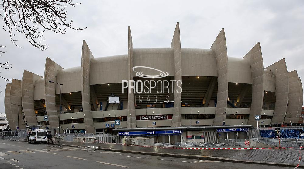 General view outside the Parc des Princes stadium ahead of the Champions League Round of 16 2nd leg match between Paris Saint-Germain and Manchester United at Parc des Princes, Paris, France on 6 March 2019.