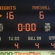 The final scoreboard after an NCAA football game between the Marshall Thundering Herd and the Central Florida Knights at Bright House Networks Stadium on Saturday, October 8, 2011 in Orlando, Florida. (Photo/Alex Menendez)