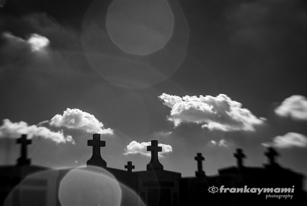 Infrared lensbaby images at Greenwood Cemetery in New Orleans, LA