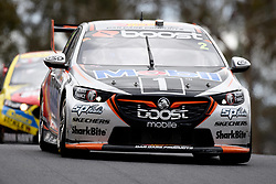 October 7, 2018 - Bathurst, NSW, U.S. - BATHURST, NSW - OCTOBER 07: Scott Pye / Warren Luff in the Mobil 1 Boost Mobile Racing Holden Commodore across the top of the mountain at the Supercheap Auto Bathurst 1000 V8 Supercar Race at Mount Panorama Circuit in Bathurst, Australia on October 07, 2018 (Photo by Speed Media/Icon Sportswire) (Credit Image: © Speed Media/Icon SMI via ZUMA Press)
