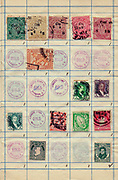 Old stamps from India, Iraq and Ireland Philately is the study of postage stamps and postal history.
