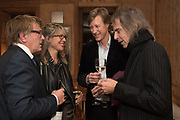 GILES WOOD,  SARAH GRAHAM;; JAMES HOLLAND-HIBBERT; IVOR BRAKA,  Book launch for the Diary of Two Nobodies, by Giles and Mary from Gogglebox. Kensington,  London, 8 November 2017