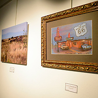 """""""La Cita Remembered"""" by Renee Post adorns the wall of Double Six Gallery in Grants Monday."""