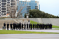 MELBOURNE, VIC - SEPTEMBER 12: Heavy police presence during the Melbourne Freedom Walk Rally on September 12, 2020 in Melbourne, Australia. Stage 4 restrictions are in place from 6pm on Sunday 2 August for metropolitan Melbourne. This includes a curfew from 8pm to 5am every evening. During this time people are only allowed to leave their house for work, and essential health, care or safety reasons. (Photo by Dave Hewison/Speed Media)