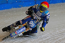 13.03.2016, Assen, BEL, FIM Eisspeedway Gladiators, Assen, im Bild Stefan Pletschacher (GER) // during the Astana Expo FIM Ice Speedway Gladiators World Championship in Assen, Belgium on 2016/03/13. EXPA Pictures © 2016, PhotoCredit: EXPA/ Eibner-Pressefoto/ Stiefel<br /> <br /> *****ATTENTION - OUT of GER*****