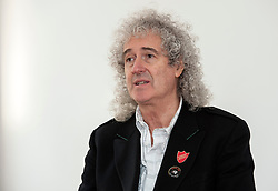 © Licensed to London News Pictures.  25/03/2015. Stroud, Gloucestershire, UK.  Brian May holds a meeting at Lansdown Hall as part of his Common Decency tour on getting common decency back into politics, with Angela Smith, the Labour Shadow DEFRA Minister, and David Drew, Labour PPC for Stroud.  All three speakers also spoke against the badger cull which has taken place in parts of Gloucestershire for the last two years.  Photo credit : Simon Chapman/LNP
