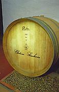 European oak medium toast. Oak barrel aging and fermentation cellar. Chateau de la Soucherie, anjou, Loire, France