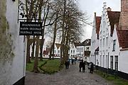 Entrance to Beguinale House, Bruges, Belgium