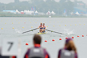Eton Dorney, Windsor, Great Britain,..2012 London Olympic Regatta, Dorney Lake. Eton Rowing Centre, Berkshire[ Rowing]...Description;  [Spares Race],  GBR M2- Bow cameron NICOL and Marcus BATEMAN, at the start,  Dorney Lake. 15:01:19  Friday  27/07/2012. [Mandatory Credit: Peter Spurrier/Intersport Images]. July/Aug