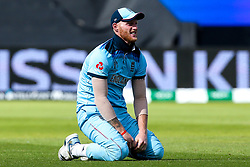 Ben Stokes of England sits on his knees - Mandatory by-line: Robbie Stephenson/JMP - 30/06/2019 - CRICKET - Edgbaston - Birmingham, England - England v India - ICC Cricket World Cup 2019 - Group Stage
