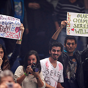 Serena Williams supporters after their final WTA tennis championships match in Istanbul, October 28, 2012.  Photo by Aykut AKICI/TURKPIX