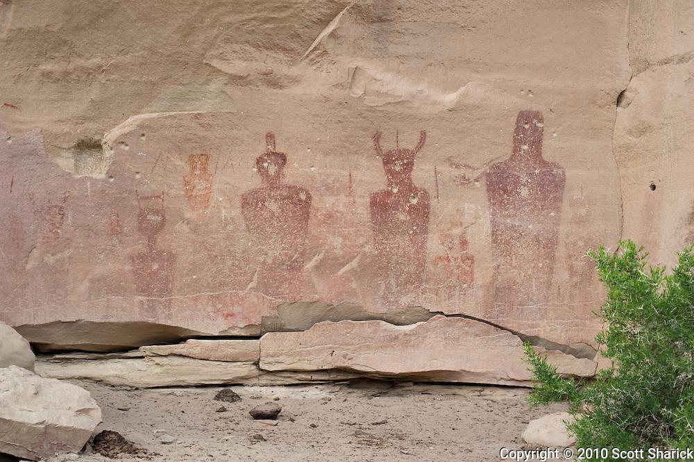 Native American rock art pictograph from the Frement era. Missoula Photographer