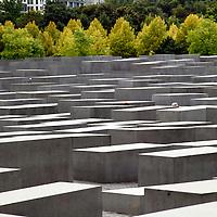 Europe, Germany, Berlin.  Memorial to the Murdered Jews of Europe.