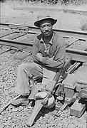 "1006-B028-6 ""portrait of peg-legged Negro"" (1962)"