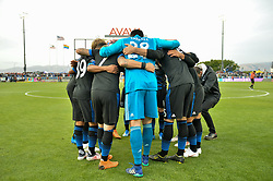 June 9, 2018 - San Jose, California, United States - San Jose, CA - Saturday June 09, 2018: San Jose Earthquakes huddle during a Major League Soccer (MLS) match between the San Jose Earthquakes and Los Angeles Football Club at Avaya Stadium. (Credit Image: © John Todd/ISIPhotos via ZUMA Wire)
