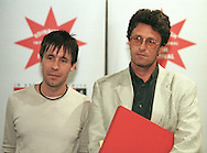 Director Pawel Pawlikowski and actor Paddy Considine who won the Michael Powell Award for Best New British Feature for their film 'Last Resort' at the closing gala for this year's Edinburgh International Film Festival at the Odeon cinema. ....