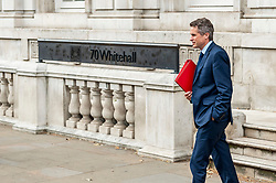 Gavin Williamson, Education Secretary leaves the Cabinet Office after meetings.<br /> <br /> Richard Hancox | EEm 12082019
