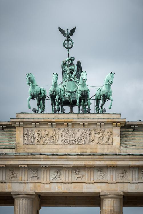 16 September 2021, Berlin, Germany: The historical site of Brandenburger Tor in Berlin.
