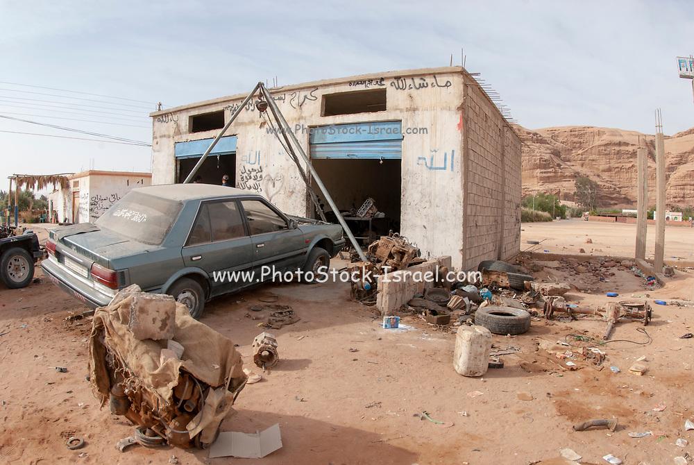 A makeshift Garage (Auto Repair Shop) in Wadi Rum, Jordan