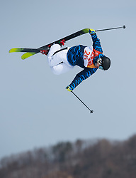 February 18, 2018 - Pyeongchang, South Korea - JOONA KANGAS of Finland competes in Mens Ski Slopestyle qualifications Sunday, February 18, 2018 at Phoenix Snow Park at the Pyeongchang Winter Olympic Games.  Kangas did not make the finals. Photo by Mark Reis, ZUMA Press/The Gazette (Credit Image: © Mark Reis via ZUMA Wire)