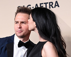 January 21, 2018 Los Angeles, CA This Is Us cast 24th Annual Screen Actors Guild Awards held at the Shrine Exposition Center. 21 Jan 2018 Pictured: Sam Rockwell and Sarah Silverman. Photo credit: OConnor-Arroyo / AFF-USA.com / MEGA TheMegaAgency.com +1 888 505 6342