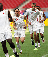 Photo: Chris Ratcliffe.<br /> England Training Session. FIFA World Cup 2006. 24/06/2006.<br /> Owen Hargreaves in training.