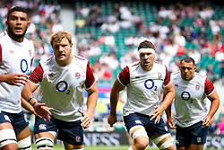 Charlie Ewels of England looks on - Rogan/JMP - 11/08/2019 - RUGBY UNION - Twickenham Stadium - London, England - England v Wales - Quilter Series.