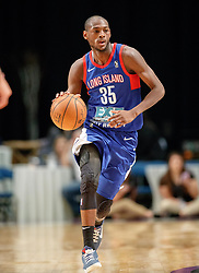 November 19, 2017 - Reno, Nevada, U.S - Long Island Nets Guard MILTON DOYLE (35) during the NBA G-League Basketball game between the Reno Bighorns and the Long Island Nets at the Reno Events Center in Reno, Nevada. (Credit Image: © Jeff Mulvihill via ZUMA Wire)