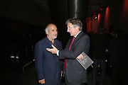 ALAN YENTOB AND LORD HOLLICK, Doris Salcedo  installation and Louise Bourgeois - private view. Dinner afterwards for the Louise Bourgeois exhibition. Tate Modern, London, SE1,-DO NOT ARCHIVE-© Copyright Photograph by Dafydd Jones. 248 Clapham Rd. London SW9 0PZ. Tel 0207 820 0771. www.dafjones.com.