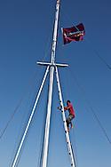 INDONESIA, Komodo island, on a traditional boat