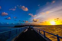 Sunrise, Mouli Bridge, Mouli, Island of Ouvea, Loyalty Islands, New Caledonia
