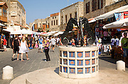 Square of Jewish martyrs, old town, Rhodes, Greece
