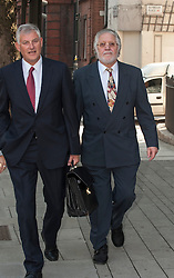 (Left) Former Radio One DJ Dave Lee Travis arriving at Westminster Magistrates Court in London, Friday, 23rd August 2013. Picture by i-Images